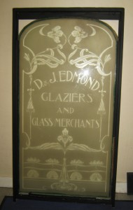 Edmond Glazier  door glass reframed