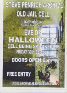 Old Jail Cell at Watts of Cupar.  Ready for Eve of Halloween 30th October 2015.