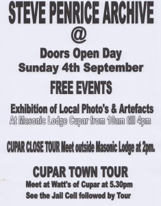 EVENTS IN CUPAR FIFE